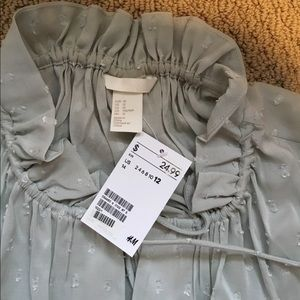 H&M Tops - H&M sleeveless high neck blouse, size 12